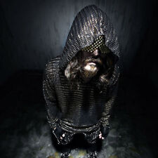 ByTheR Knight Metalic Hoodie Gothic Shine Punk Armor P000BCFE