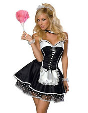 Sexy French Maid Costume Naughty Wench Outfit Party Dress Fancy Dress ALL SIZES