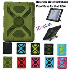 Pepkoo Case Cover For iPad 2 3 4 Defender Proof Water/Dirt/Shock With Stand