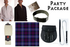 Great Gift: Mens Fun Party Kilt Package - Casual Scottish Outfit - Scotland