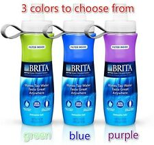 New 2-pack Brita 24-Ounce Water Purifier Bottle (Soft) w/ Extra Filter BPA Free