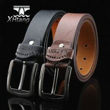 Men Leather Belt Pin Buckle Waist Strap Belts pk183
