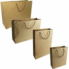 NEW PAPER BAG BROWN DOTTED PRINTED BAGS KRAFT SOS FOOD LUNCH PARTY BAGS