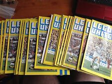 1978/79 Leeds United Home Games Football Programmes