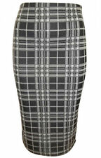 NEW EX TOPSHOP BLACK CHECKED PENCIL SKIRT