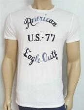 American Eagle Outfitters AEO US-77 Tee Mens White Graphic T-Shirt New NWT