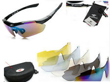 NEW Fashion Polarized Cycling Glasses Outdoor Sports Sunglasses Goggles 5 Lens