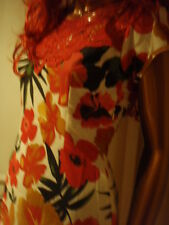 New top quality Boden floral lined red summer cotton & lace dress RRP £59