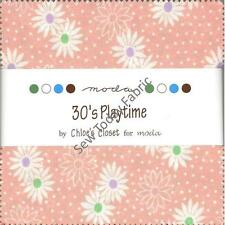 30's Playtime Charm Pack by Moda, Set of 42 5-inch Precut Squares (32790PP)
