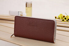 Women Faux Leather Wallet Zip Around Case Purse Cards Bag Lady Long Handbag