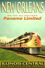 NEW ORLEANS -PANAMA LIMITED-Illinois Central Railroad Train Poster Art Print 115