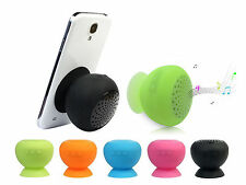 Mini Waterproof Wireless Bluetooth Handsfree Mic Suction Speaker Shower Car mic