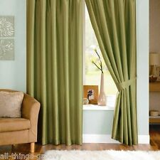 BRAND NEW JOHN LEWIS PLAIN SILK PENCIL PLEAT CURTAINS FENNEL..VARIOUS SIZES