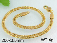 """8 1/4 """" Chain Bracelet - Stainless Steel - Gold or Silver Toned - BS24"""