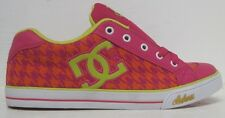 DC Chelsea TX Skate Shoe (Little/Big Kid),Crazy Pink Plaid,5.5&6 M US Big Kid