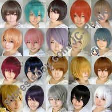 New Fashion short cosplay party wig many colors FREE SHIPPING+WIG CAP  Hot Sale