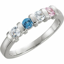 Mother's Jewelry Sterling Silver 1-4 Round Birthstones Mothers Ring Moms gift