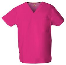 Dickies Scrubs 83706 V Neck Unisex Scrub Top Dickies EDS Hot Pink