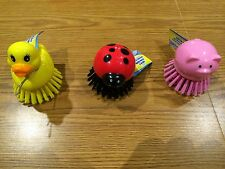 * Cleaning Scrub Brush for Pots and Pans ** DUCK, PIG or LADY BUG **