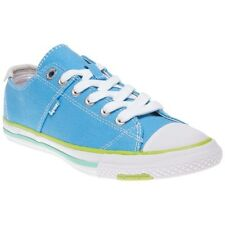 New Womens Superdry Blue Super Series Low Canvas Trainers Lace Up