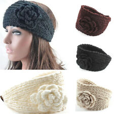 Winter Vogue Big Flower Hairband Crochet Knit Headband Head/Ear Warmer Headwrap