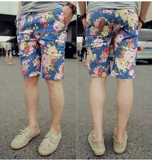 Men's Retro Floral Casual Shorts Cropped Trousers Korean Tide Summer Short Pants