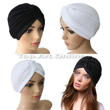 Fashion Unisex Indian Style Stretchable Turban Hats Hair Head Wrap Cap Headwrap