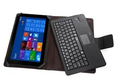 Detachable Folding Wireless Bluetooth Keyboard Leather Stand Case Mouse Touchpad