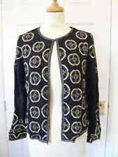 New Monsoon top quality beaded lined crepe jacket RRP was £89 size 10 to 18