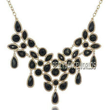 WATER DROP BEADS PENDANT BIB STATEMENT NECKLACE FASHION JEWELRY GOLDEN CHAIN NEW
