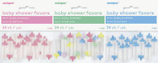 BABY SHOWER 24 PACK MINI BABY BOTTLES FAVOURS NOVELTY UNISEX TABLE DECORATIONS