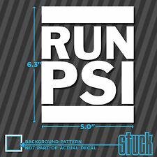 RUN PSI - Vinyl Decal Sticker DMC Boost turbo supercharged bar drag street