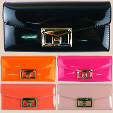 New Promotion PU leather woman & girl wallets four colors long clutch M-484