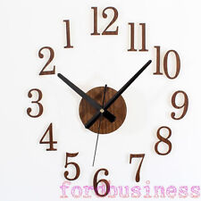 Wooden 3D DIY Wall Clock Watches Modern Design Classic Reversal Time Home Decor