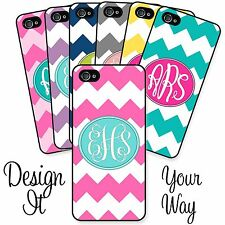 Personalized Case for iPhone 4 4S 5 5S Jumbo Chevron Monogrammed Custom Cover