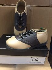 NIB SADDLE SHOES Boys or Girls Infant/Toddler Beige/Brown Size 1-10