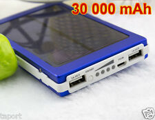 Solar Battery Charger CAMPING HOLIDAY MOBILE CARAVAN TABLET 30000mAh Power Bank