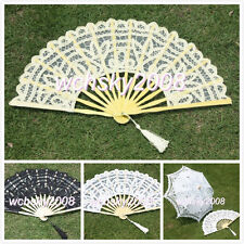 Unique Handmade Cotton Lace Fans for Bride Wedding Party Decoration