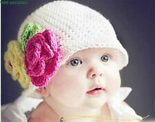 Handmade Cute Baby Girl, Boy, Infant, Toddler,Crochet Hat Beanies, Photo Prop