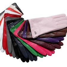 2014 NEW STYLE Women Lady Genuine Lambskin Leather driving Gloves 14 Colors