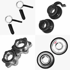 """Pair 1"""" Spring Clamp Spin Collar Clips For Weight Bar Dumbbells Home Gym Fitness"""
