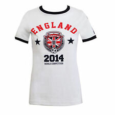 Womens World Cup 2014 National Football Soccer T-Shirt Ladies Size 8-14