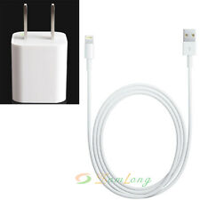 wholesale 10PCs Genuine USB Data Sync Cable & US Wall Charger for iPhone 5s 5c 5