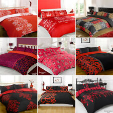 Duvet Quilt Cover Bedding Set Red Single Double King Kingsize Super King