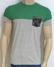 American Eagle Outfitters AEO Mens Camo Pocket Gray Green Crew-Neck T-Shirt NWT
