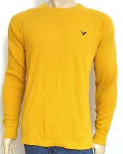 American Eagle Outfitters AEO Mens Gold Raglan Thermal Shirt Vintage Fit NWT