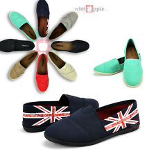 Women Slip-on Round Toe Canvas Casual Comfy Flats Linen Loafer Soda Shoes Object