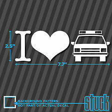 I heart cops cop car - vinyl decal sticker love police hate bumper window