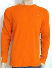 American Eagle Outfitters AEO Mens Orange Raglan Thermal Shirt Vintage Fit NWT