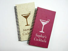 Cocktail Book Personalised Front Cover Hen do drinking game gift. Blank or Lined